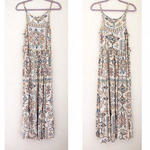 Altar'd State || Lace Up Maxi Dress Size L